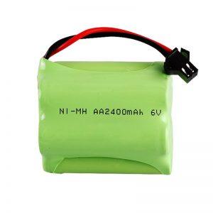 د NiMH چارج وړ بیټرۍ AA2400 6V