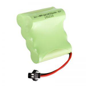د NiMH د چارج وړ بیټرۍ AA2400 6V د چارج وړ بریښنایی لوبو وسیلو بیټرۍ پیک