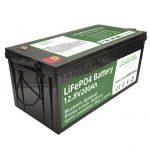ګرم پلور 2.56KWh lifepo4 batteri 12v 200Ah 6000 سائیکل rv بیټرۍ