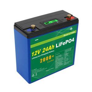 د سولر ژور سایکل 24v 48v 24ah Lifepo4 د بیټرۍ بسته UPS 12v 24ah بیټرۍ