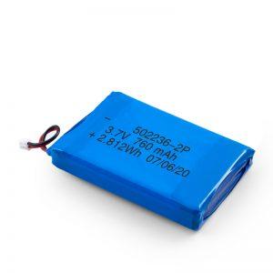 د LiPO د چارج وړ بیټرۍ 502236 3.7V 380mAH / 3.7V 760mAH /7.4V 380mAH