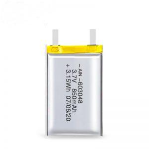 د LiPO د چارج وړ بیټرۍ 603048 3.7V 850mAh / 3.7V 1700mAH / 7.4V 850mAH