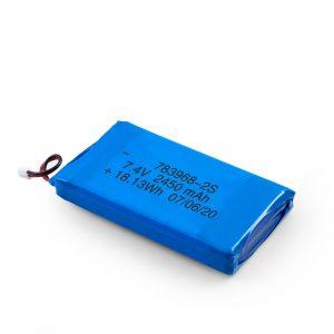 د LiPO چارج وړ بیټرۍ 783968 3.7V 4900mAH / 7.4V 2450mAH / 3.7V 2450mAH /